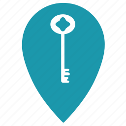 home, hostel, hotel, key, location, place, room icon