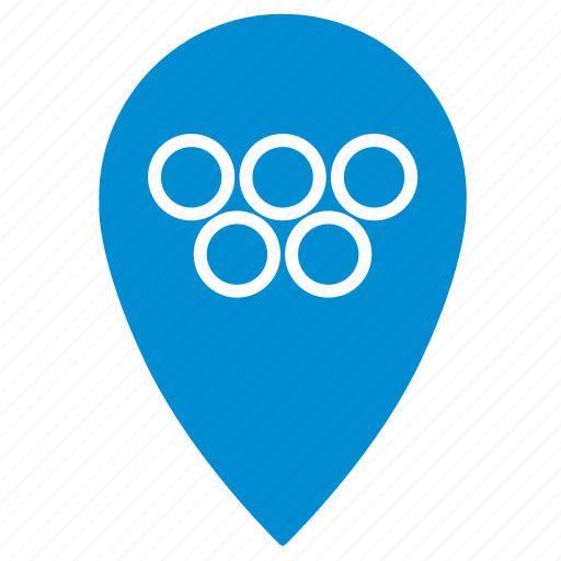 competition, games, location, olympic, place, point icon