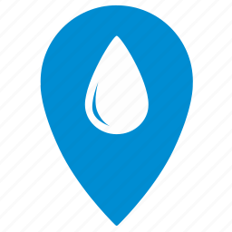 location, map, navigation, place, point, pointer, water icon