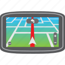 car, destination, driving, gps, map, pin, route icon