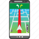 car, destination, driving, gps, mobile, route, smartphone icon