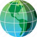 earth, global, map, travel, world icon
