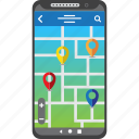 destination, find, gps, map, mobile, smartphone icon