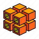 hollow, stack, divide icon