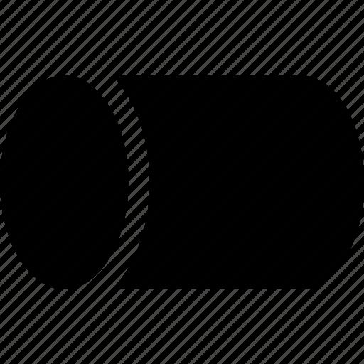 circle, cylinder, figure, geometry, round, shape icon