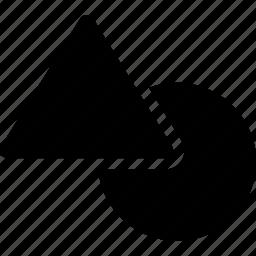 circle, design, geometric, pattern, shapes, triangle icon