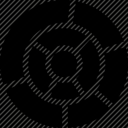 circles, decor, design, layer, multi, pattern, vault icon