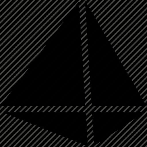 design, polygon, pyramid, shape, structure icon