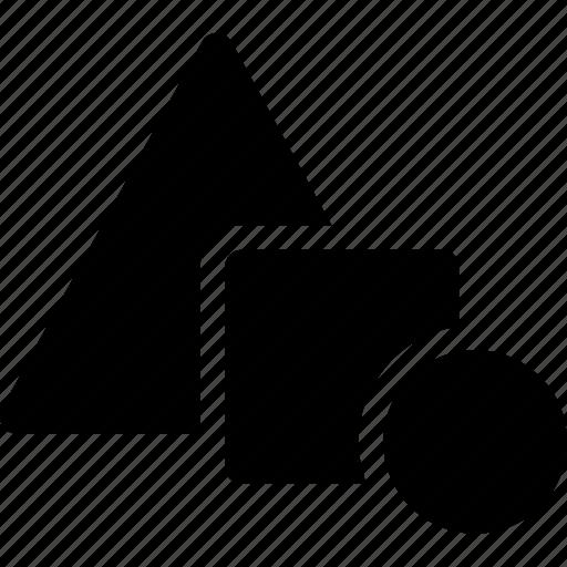 circle, design, geometric, pattern, square, triangle icon