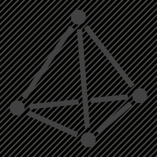 3d, geometry, pyramid, shape icon