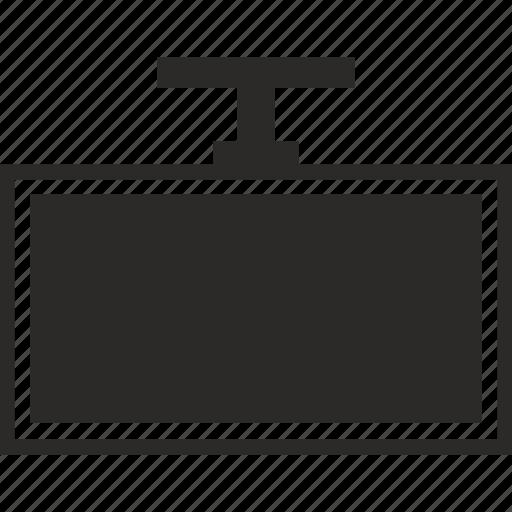 mount, set, top, tv icon