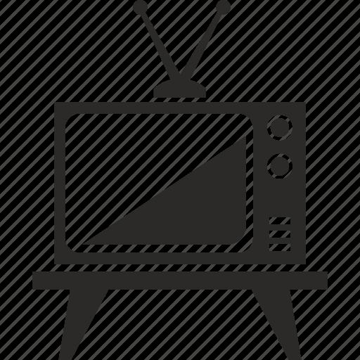 antenna, old, set, tv icon