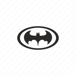 bat, batman, hero, oval icon