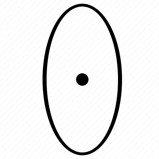 ellipse, figure, form, geometry, oval, rounded icon