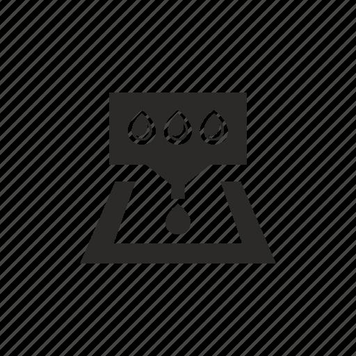 drop, ink, pallette, printer icon
