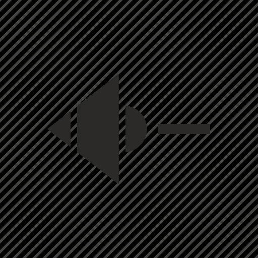 less, minus, music, mute, sound icon