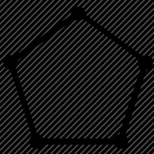 complex, figure, form, geometry, pentagon icon