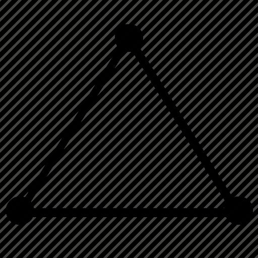 figure, form, geometry, regular, triangle icon