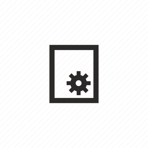 gear, paper, printer, settings icon