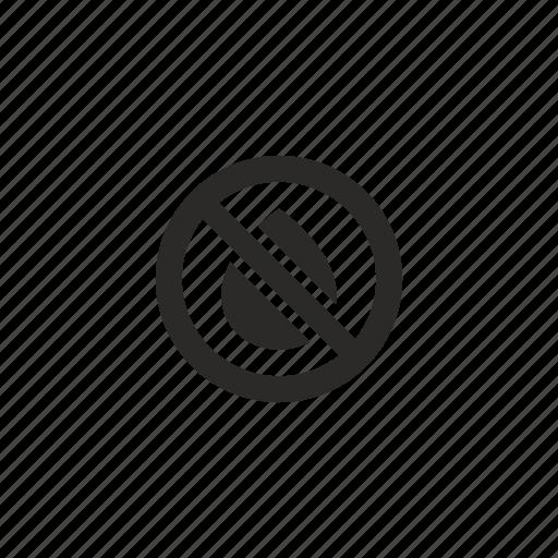cartridge, empty, ink, printer, stop icon