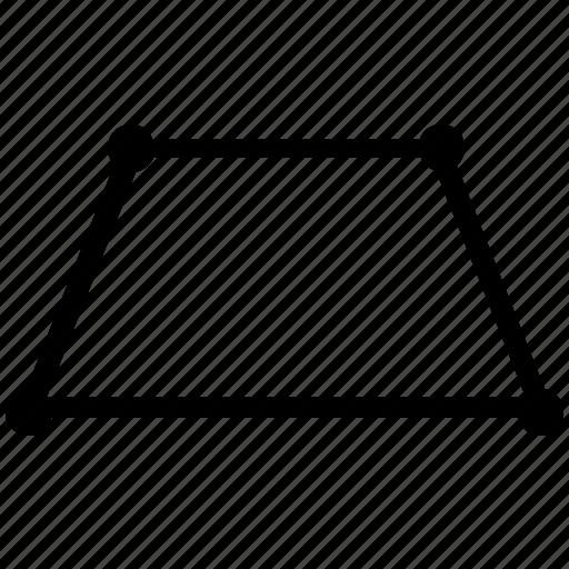 figure, form, geometry, trapeze, trapezium, trapezoid icon