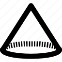 diagram, design, geometry, cone icon