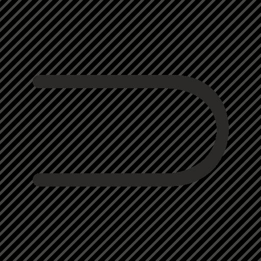 arc, geometry, line icon