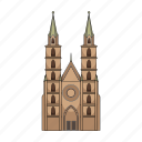 architecture, cathedral, church, temple icon