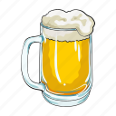 alcohol, beer, drink, foam, glass, mug, tradition icon