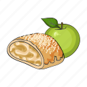 apple, dessert, food, fruit, pie, strudel