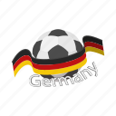 ball, cartoon, flag, football, germany, soccer, sport icon