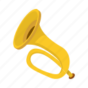 brass, cartoon, german, horn, music, musical, trumpet icon