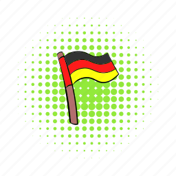 comics, country, flag, germany, national, patriotism, red icon