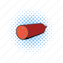 comics, food, german, meat, pork, salami, sausage icon