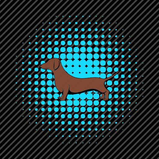 animal, breed, comics, dachshund, dog, german, pet icon
