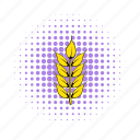 barley, beer, brewery, comics, dry, ear, grain icon