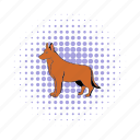 animal, breed, comics, dog, german, pet, shepherd icon