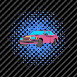 benz, car, comics, drive, german, mercedes, transport icon