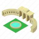 arch, architecture, belgium, brussels, isometric, object, triumphal