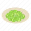 brussels, cabbage, food, isometric, natural, object, sprouts