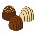 candy, chocolate, dessert, food, isometric, object, sweet