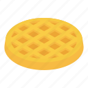 breakfast, delicious, food, isometric, object, wafer, waffle