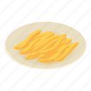 food, french, fries, fry, isometric, object, potato