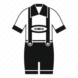 cloth, design, fashion, isolated, pants, suspenders, t-shirt icon
