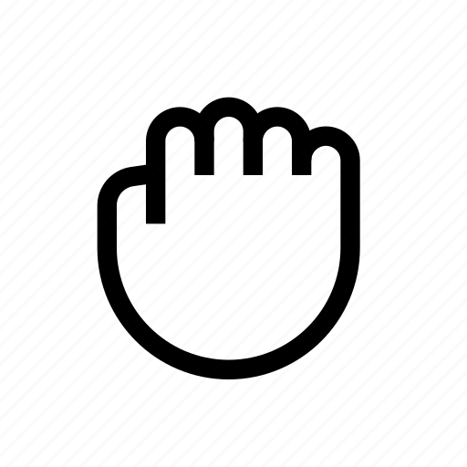 action, fingers, fist, five, gesture, hand, move icon