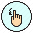 curve, finger, gesture, mobile, screen icon
