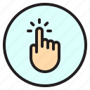 finger, gesture, mobile, screen, tab icon