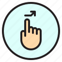 finger, gesture, mobile, right, screen, tab icon