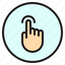 finger, gesture, mobile, screen, tab, touch icon