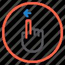finger, gesture, left, mobile, screen